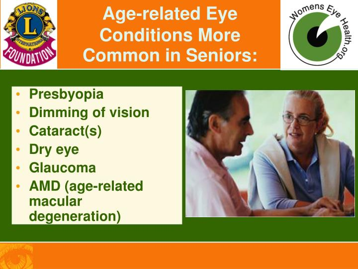 Age-related Eye Conditions More Common in Seniors: