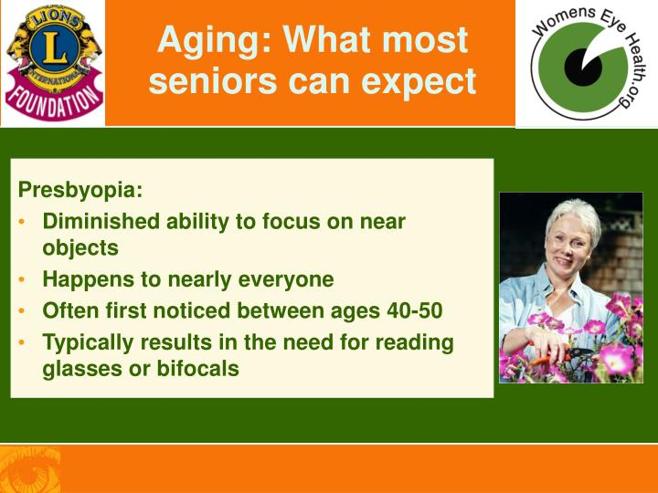 Aging: What most seniors can expect
