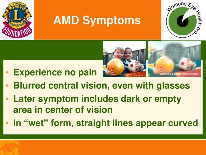 AMD Symptoms