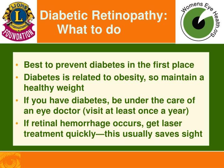 Diabetic Retinopathy: