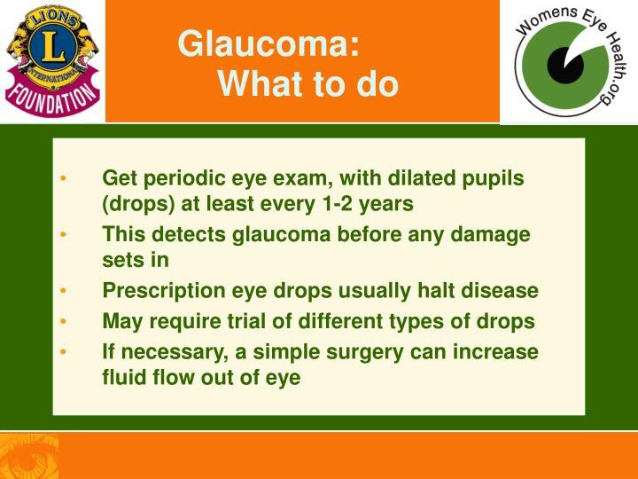 Glaucoma: