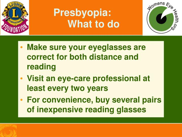 Presbyopia: