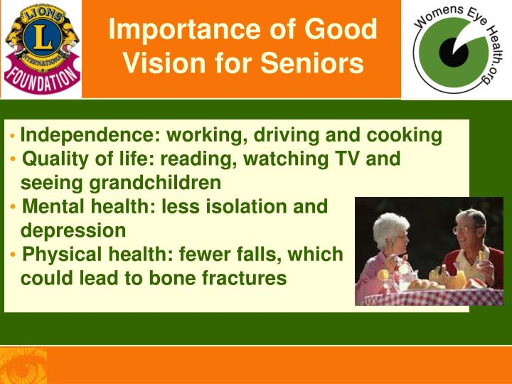 Importance of Good Vision for Seniors