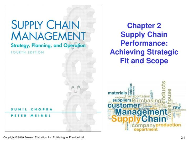 Chapter 2 supply chain performance achieving strategic fit and scope