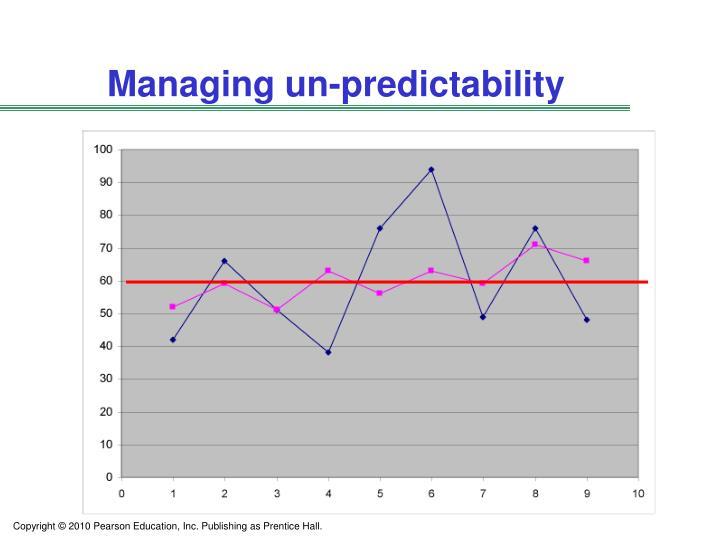 Managing un-predictability