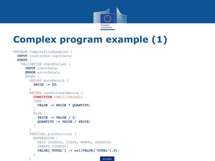 Complex program example (1)