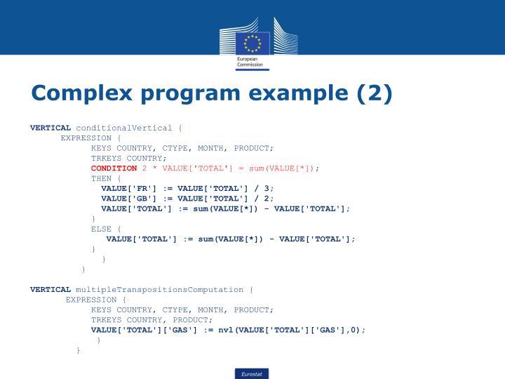 Complex program example (2)