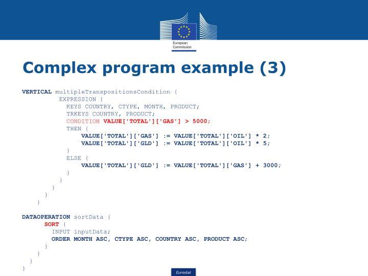Complex program example (3)