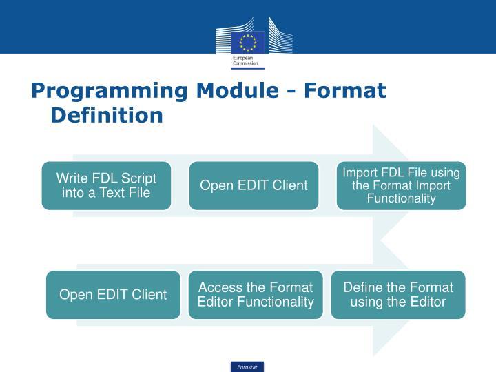 Programming Module - Format Definition
