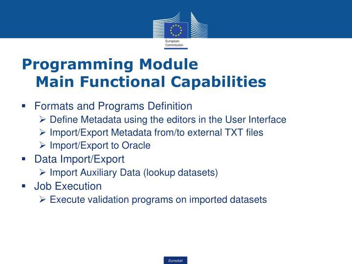 Programming Module