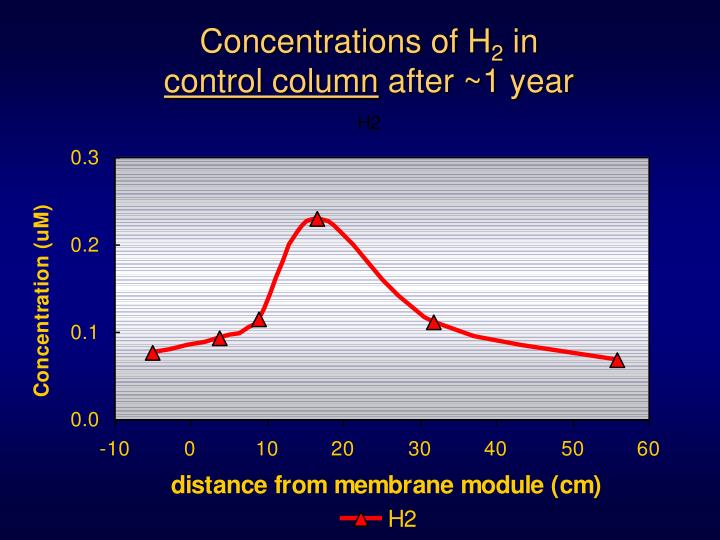 Concentrations of H