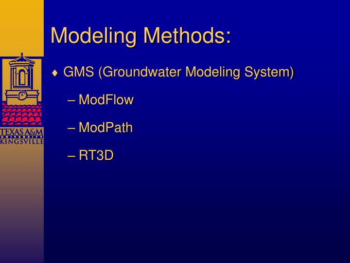 Modeling Methods: