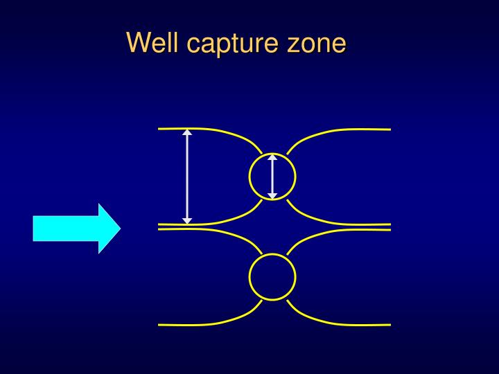 Well capture zone