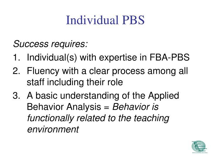 Individual PBS