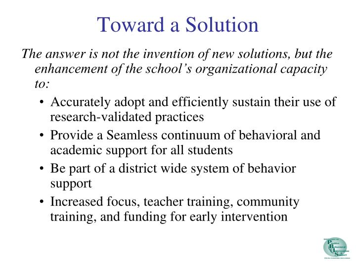 Toward a Solution