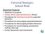 universal strategies school wide