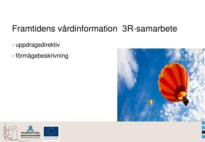 Framtidens vårdinformation  3R-samarbete