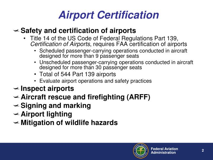 Airport Certification