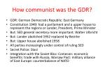 how communist was the gdr