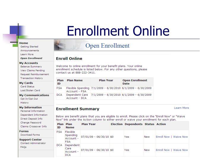 Enrollment Online