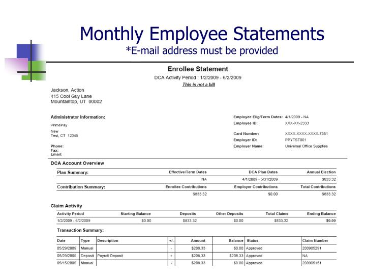 Monthly Employee Statements