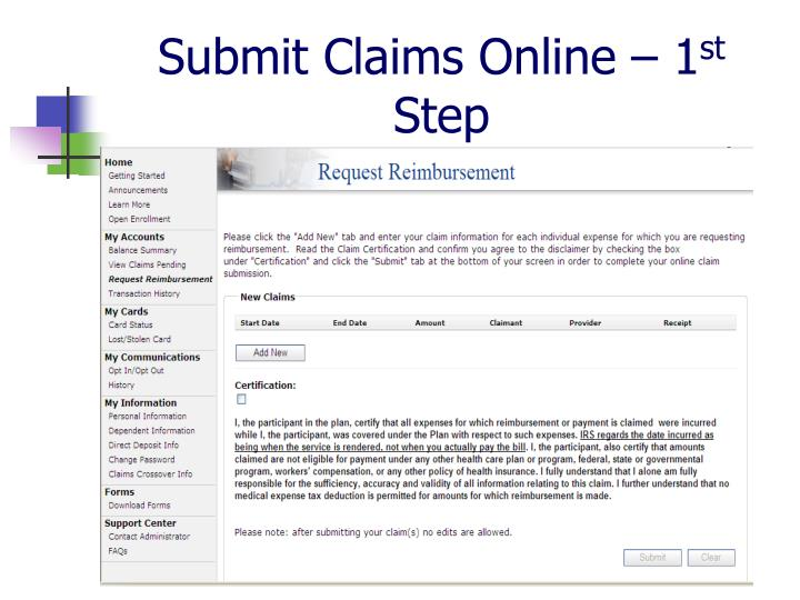 Submit Claims Online – 1