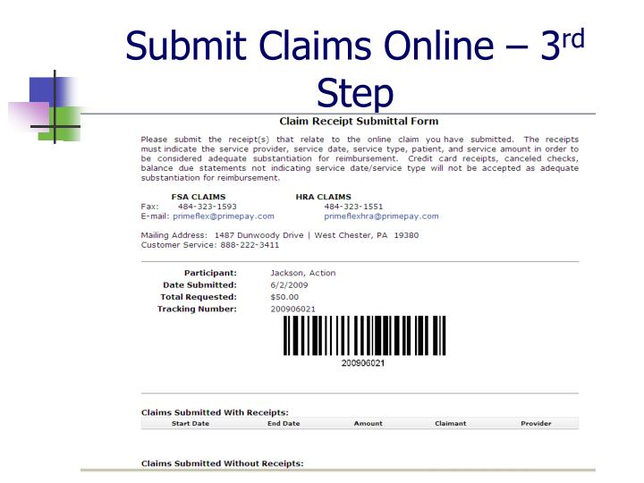 Submit Claims Online – 3