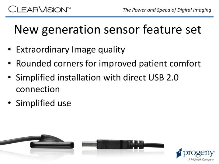 New generation sensor feature set