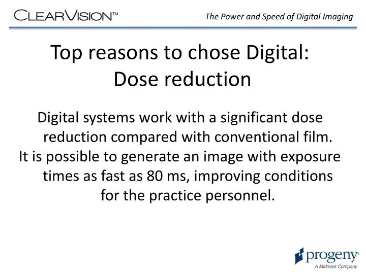 Top reasons to chose Digital: