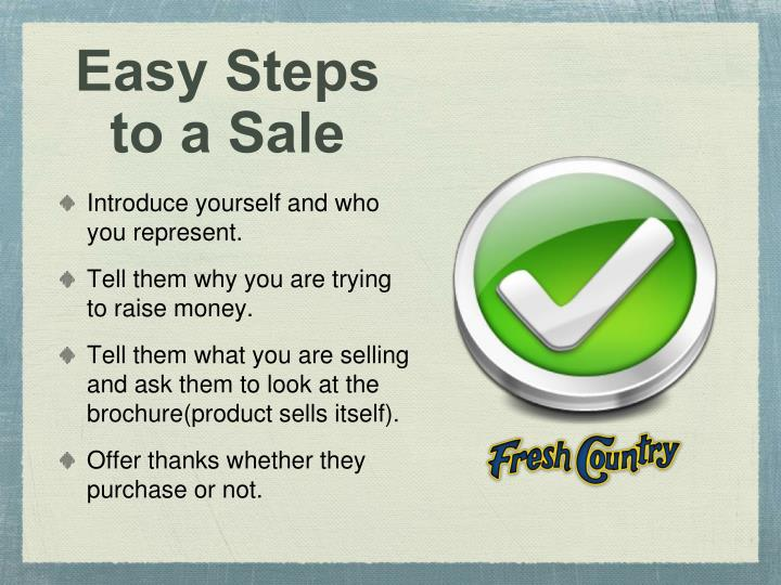 Easy Steps to a Sale