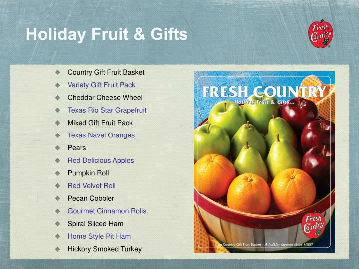 Holiday Fruit & Gifts