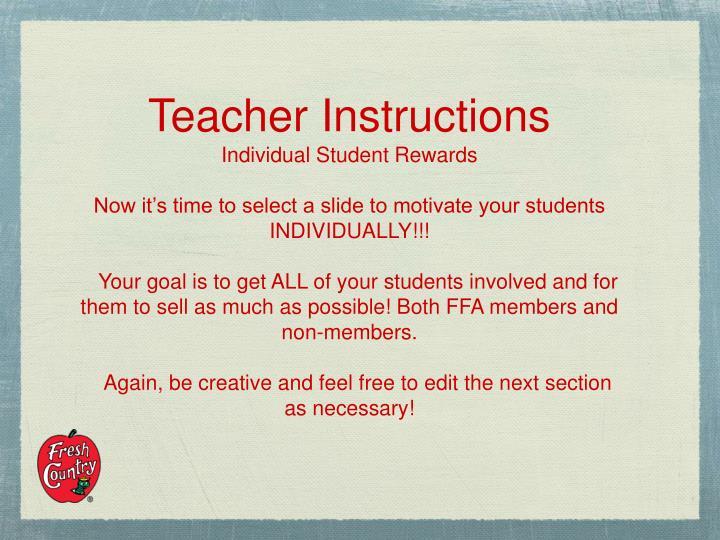 Teacher Instructions