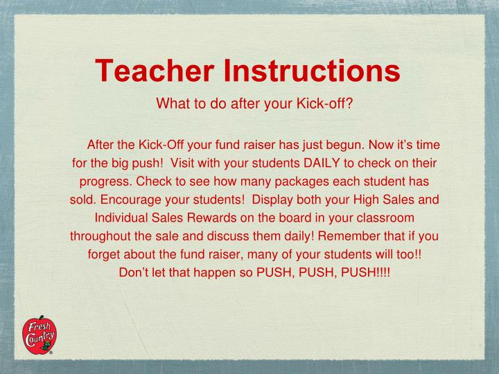 Teacher Instructions
