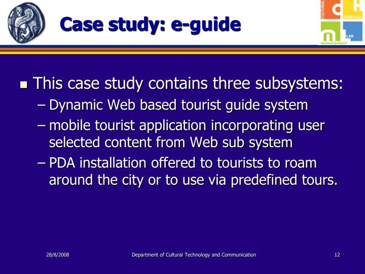 Case study: e-guide