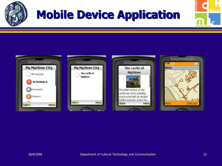 Mobile Device Application