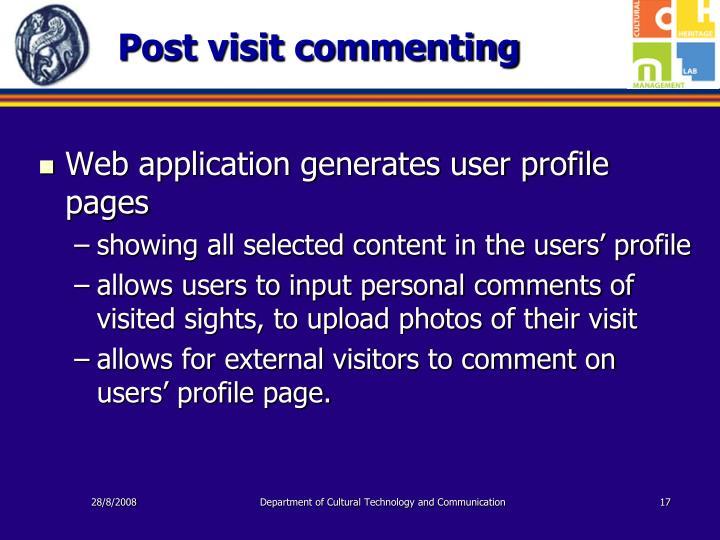 Post visit commenting