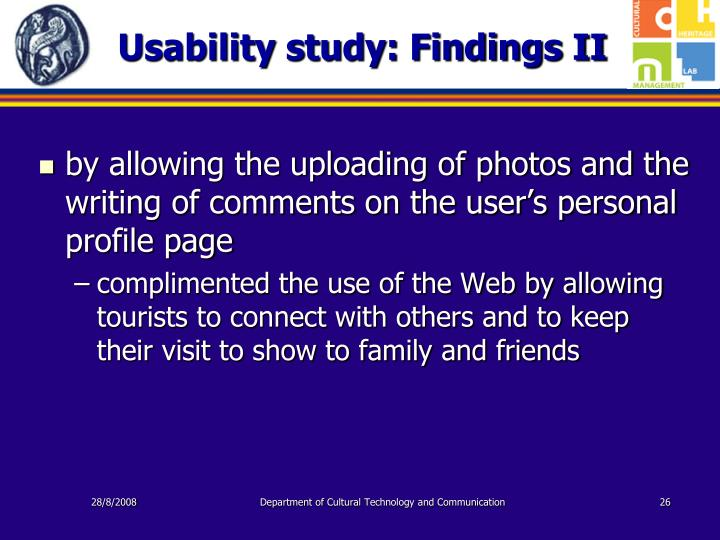 Usability study: Findings II