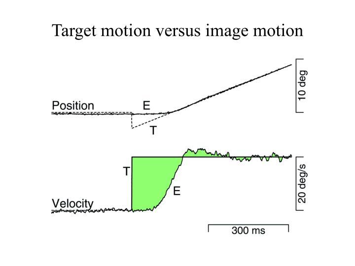 Target motion versus image motion