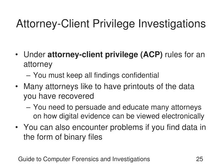 Attorney-Client Privilege Investigations