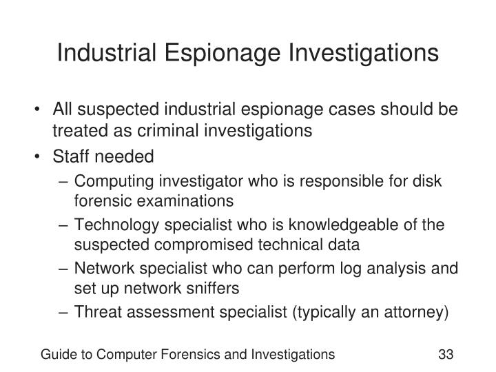Industrial Espionage Investigations