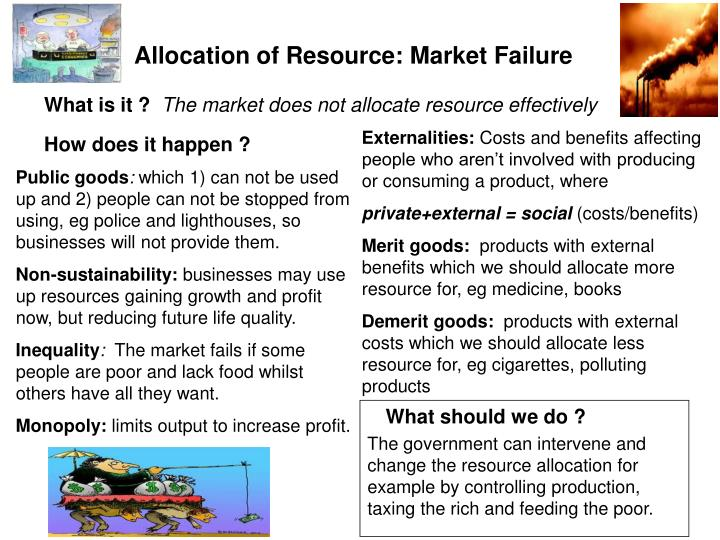 Allocation of Resource: Market Failure