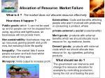 allocation of resource market failure