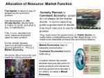 allocation of resource market function