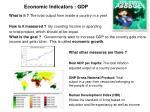 economic indicators gdp