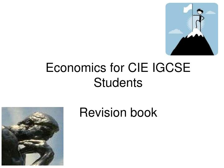 Economics for cie igcse students revision book