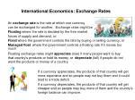 international economics exchange rates