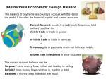 international economics foreign balance