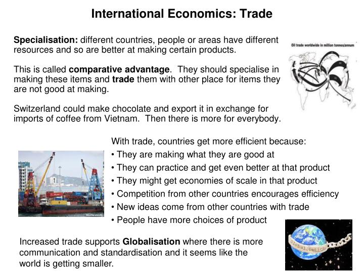 International Economics: Trade
