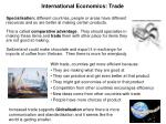international economics trade