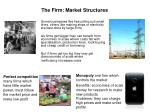 the firm market structures